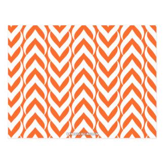 Chevron Zig Zag Orange Postcard