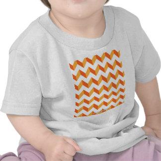 Chevron Zig Zag Orange T Shirts