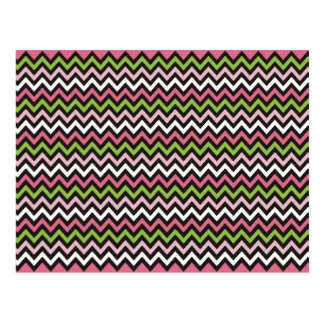 Chevron Zig Zag Pattern Postcard