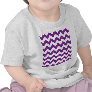 Chevron Zig Zag Purple Tee Shirts