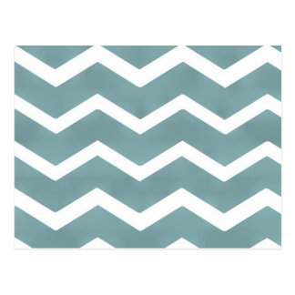 Chevron zig zag white teal pattern by healing love postcard