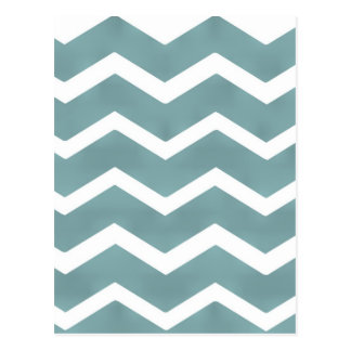Chevron zig zag white teal pattern by healing love postcard
