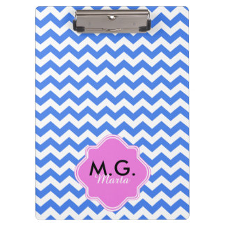 Chevron Zigzag Blue Pattern Clipboard