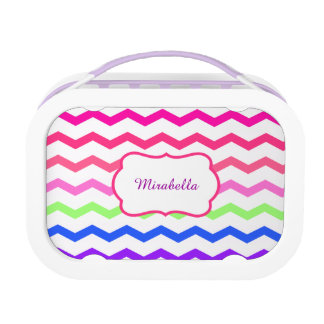 chevron zigzag colorful pattern lunchboxes