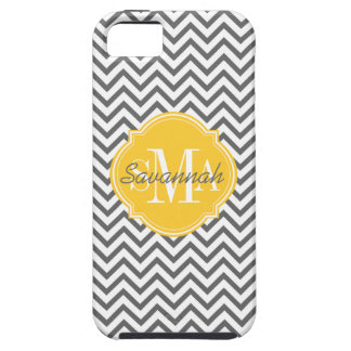 Chevron Zigzag Gray Pattern Monogram Case For The iPhone 5
