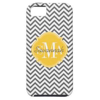 Chevron Zigzag Gray Pattern Monogram Tough iPhone 5 Case