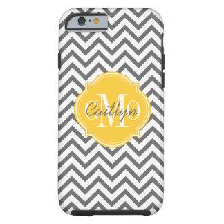 Chevron Zigzag Gray Pattern Monogram Tough iPhone 6 Case