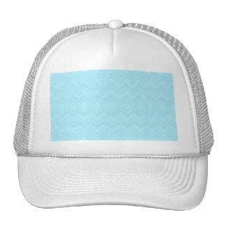 Chevron ZigZag Pattern aqua Trucker Hat