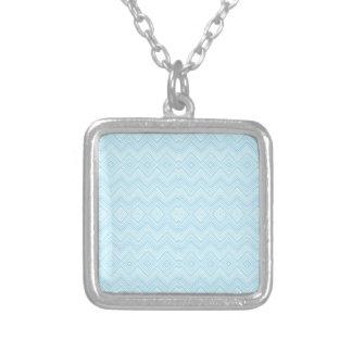Chevron ZigZag Pattern aqua Personalized Necklace