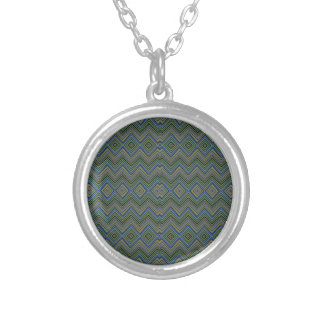 Chevron ZigZag Pattern green Personalized Necklace