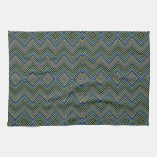 Chevron ZigZag Pattern green Towels