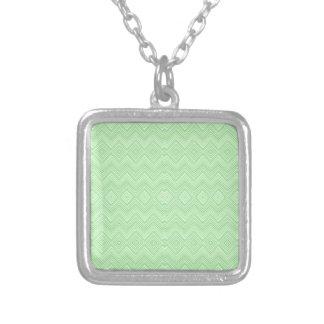 chevron zigzag pattern light green necklace