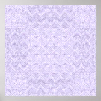 chevron zigzag pattern light lilac poster