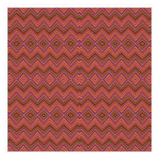 chevron zigzag pattern peach posters