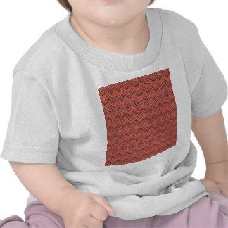 chevron,zigzag,pattern peach t-shirts