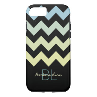 chevrons on black personalized iPhone 7 case
