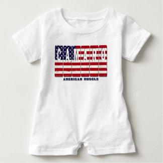 Chevy Camaro Chevrolet Patriotic Muscle Car Flag Baby Bodysuit