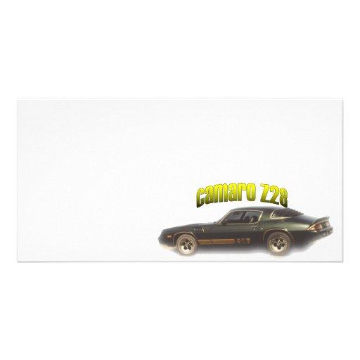 Chevy:  Camaro Z28 Customized Photo Card