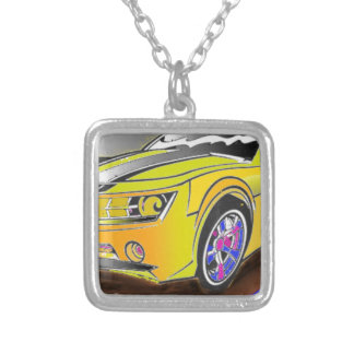 Chevy Camero Silver Plated Necklace