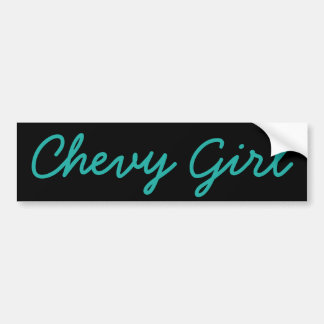 Chevy Girl Bumper Sticker