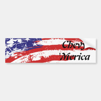 Chevy 'Merica Bumper Sticker