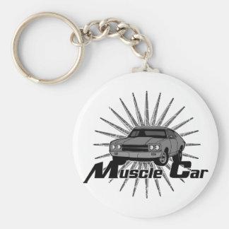 Chevy Nova Muscle Car Basic Round Button Key Ring