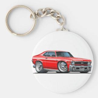 Chevy Nova Red Car Basic Round Button Key Ring