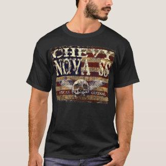 Chevy Nova SS Design Against Eroded Flag T-Shirt