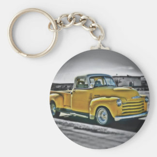Chevy pick UP Basic Round Button Key Ring