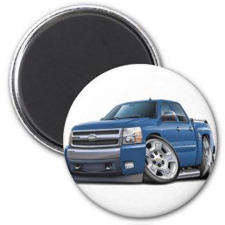 Chevy Silverado Dualcab Blue Granite Truck 6 Cm Round Magnet