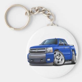 Chevy Silverado Dualcab Blue Truck Key Ring