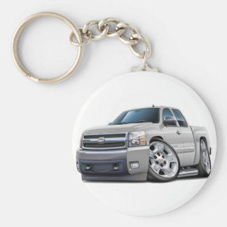 Chevy Silverado White Extended Cab Key Ring