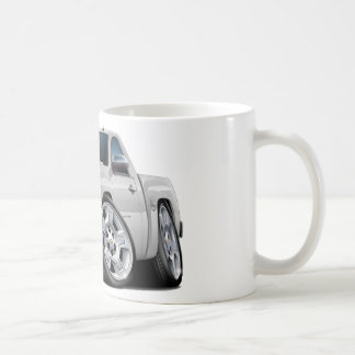 Chevy Silverado White Truck Coffee Mug