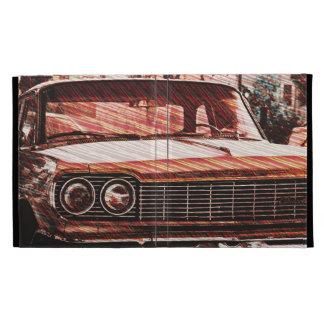 Chevy Strippy old school car in san francisco iPad Case