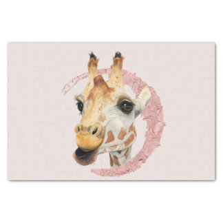 """Chew"" 3 Giraffe Watercolor Painting Tissue Paper"