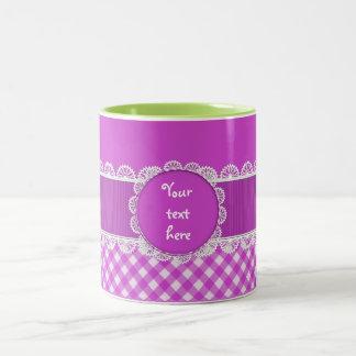 Chex Monogram Purple Two Toned Coffee Mug