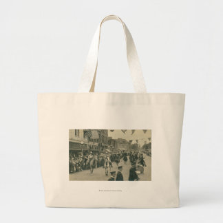 Cheyenne Frontier Days parade. Large Tote Bag