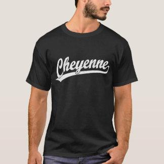 Cheyenne script logo in white T-Shirt