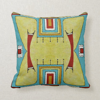 Cheyenne style 1860's parfleche design cushion