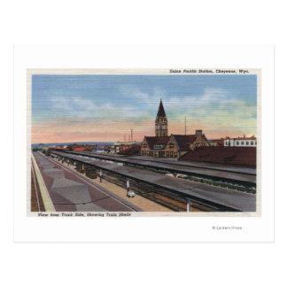 Cheyenne, WY - Union Pacific Railroad Station Postcard