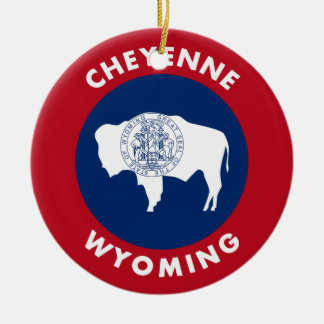Cheyenne Wyoming Ceramic Ornament
