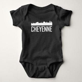 Cheyenne Wyoming City Skyline Baby Bodysuit
