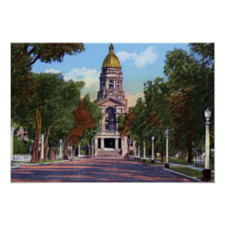 Cheyenne Wyoming State Capitol Building Poster