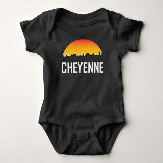 Cheyenne Wyoming Sunset Skyline Baby Bodysuit