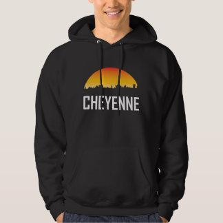 Cheyenne Wyoming Sunset Skyline Hoodie