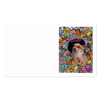 Chi Chi in Butterflies  - Chihuahua Puppy in Hat Business Card Template