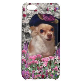 Chi Chi in Flowers, Chihuahua Puppy Dog, Cute Hat iPhone 5C Cases