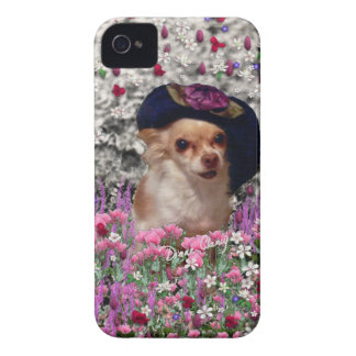 Chi Chi in Flowers  - Chihuahua Puppy in Cute Hat Case-Mate iPhone 4 Cases