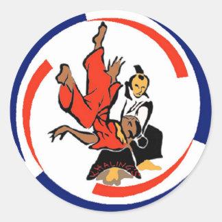 Chi in Aikido Round Sticker
