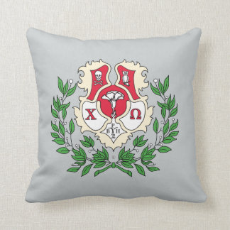 Chi Omega Crest Cushion